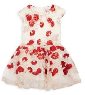 Halabaloo Little Girl's & Girl's Sequin Carnation Lace Dress