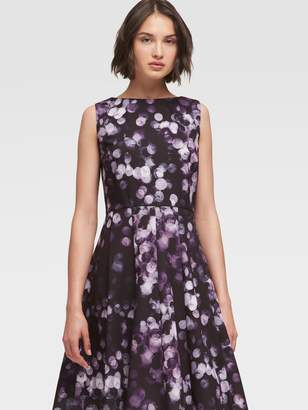 DKNY Printed Fit-And-Flare Dress