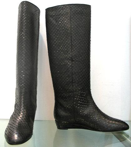 Loeffler Randall Matilde Embossed Snake Boot in Black-preorder for Fall 2008