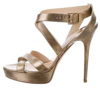 Jimmy Choo Metallic Multistrap Sandals