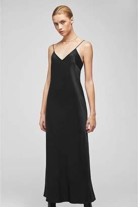 05a3a76eb8cd Anine Bing Rosemary Silk Slip - Black