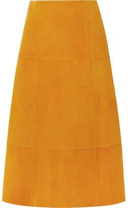 Elizabeth and James Ryker Suede Midi Skirt - Marigold