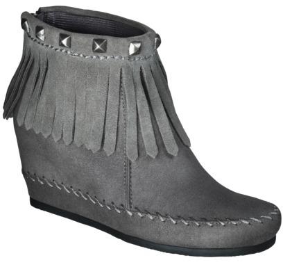 Mossimo Women's Karen Moccasin Wedge Boot - Grey