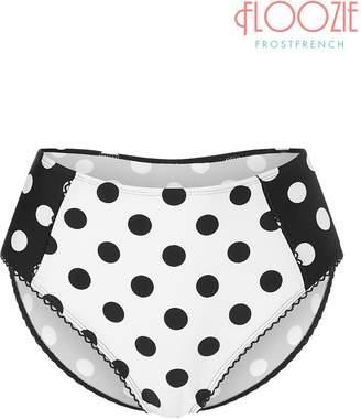 Next Womens Floozie Spot Print High Waisted Bikini Bottoms