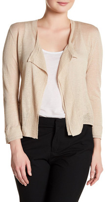 NIC+ZOE Layered Trim Linen Blend Cardigan $108 thestylecure.com