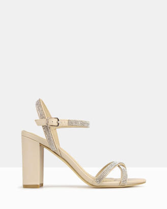 betts Hopeful Bling Strap Block Heels