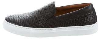 Aquatalia Leather Slip-On Sneakers