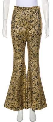Ellery High-Rise Lace Pants Gold High-Rise Lace Pants