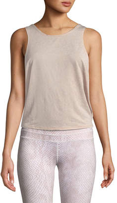 Varley Buckley Scoop-Neck Activewear Crop Top