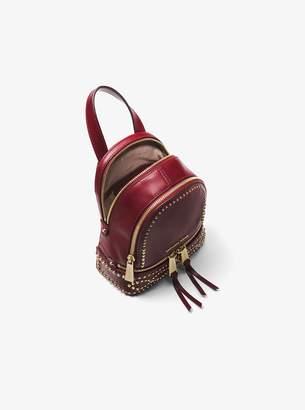 251a9cf4f51d ... discount code for at michael kors michael michael kors rhea mini  studded leather backpack b6a58 f1411