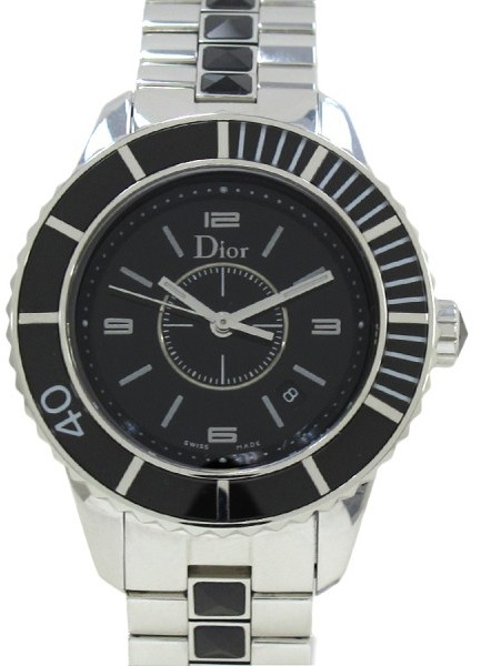 Christian Dior  Christian Dior Crystal Stainless Steel 34mm Womens Watch