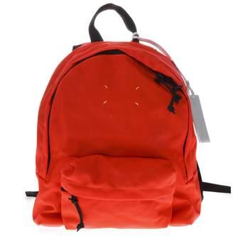 Maison Margiela Red Zipped Backpack In Nylon