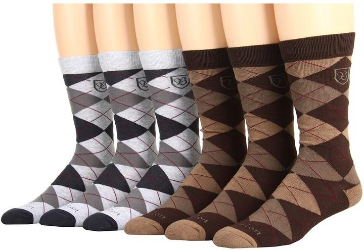 Brixton Melvin 6-Pair Pack (Heather Grey/Brown/Mustard) - Footwear