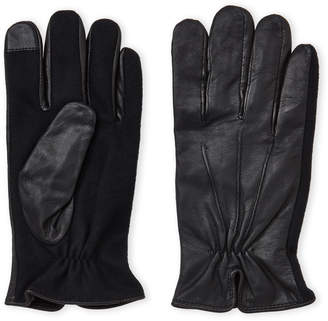 Gloves International Touchscreen Leather & Wool Gloves