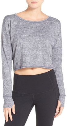 Zella Ready or Not Crop Pullover Tee $68 thestylecure.com