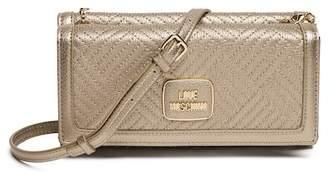 Love Moschino Metallic PU Leather Clutch