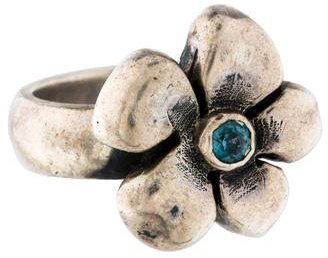 King Baby Studio Topaz Flower Ring $195 thestylecure.com