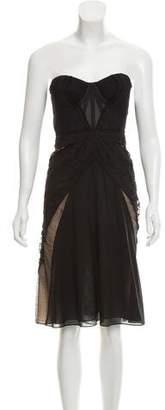 Zac Posen Lace Trim Mini Dress