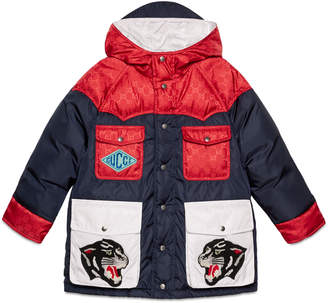 Gucci Children's nylon jacket with patches