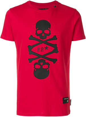 Philipp Plein skull patch T-shirt