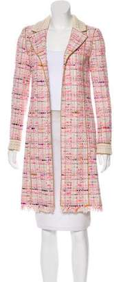 Chanel Knee-Length Tweed Coat