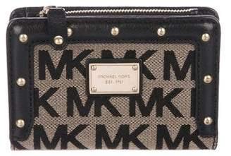 MICHAEL Michael Kors Leather-Trimmed Monogram Wallet