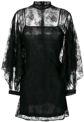 Christopher Kane rag lace sleeve mini dress