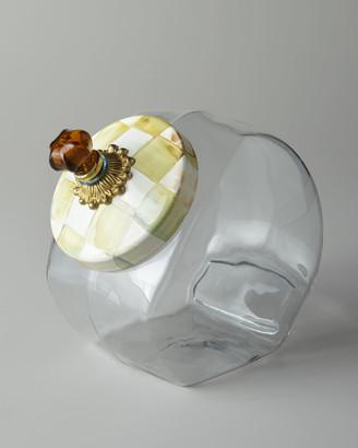 Mackenzie Childs Parchment Check Cookie Jar