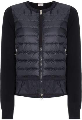 Moncler Maglie padded zip cardigan