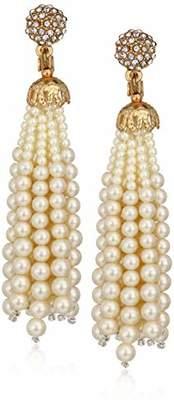 Anne Klein Women's Gold Tone Tassel Clip On Earrings