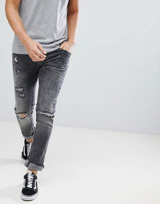 Blend cirrus distressed skinny jeans in gray