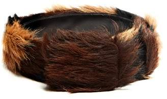 Prada Tri Colour Calf Hair Belt - Mens - Brown Multi