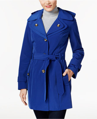 London Fog Hooded Layered-Collar Trench Coat $150 thestylecure.com