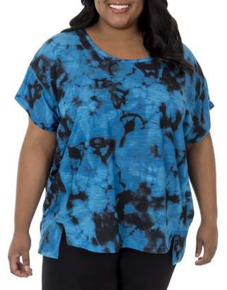 Fruit of the Loom Women's Plus-Size Active Poncho 2fer Top