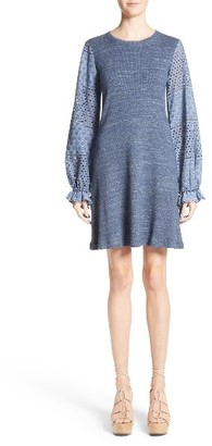 Women's See By Chloe Eyelet Bell Sleeve Dress $375 thestylecure.com