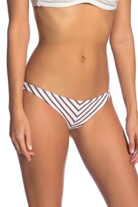 Vitamin A Tulum Striped Print Bikini Bottoms