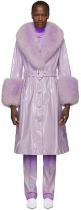 Saks Potts Purple Patent Foxy Gloss Coat