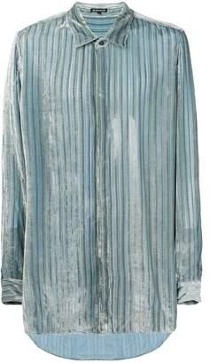 Ann Demeulemeester stripe fitted shirt