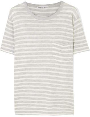 Alexander Wang Striped Slub Jersey T-shirt - Ivory