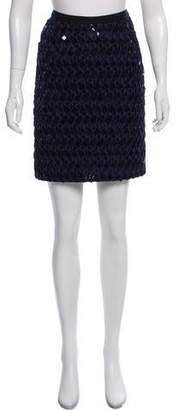 Oscar de la Renta Embellished Mini Skirt