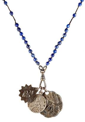 Miracle Icons Men's Beaded Pendant Necklace - Blue