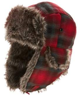 Swiss+Tech Men's Swiss Tech Trapper Hat with Faux Fur Lining and Chin Strap
