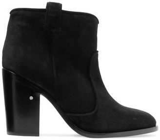 Laurence Dacade - Pete Suede Ankle Boots - Black $960 thestylecure.com