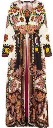 Etro - Lace-trimmed Printed Jacquard Gown - Pink $5,230 thestylecure.com