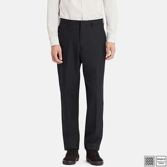 Uniqlo Men's U Wool-blend Wide-fit Tapered Pants