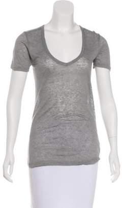 Isabel Marant Linen Short Sleeve T-Shirt