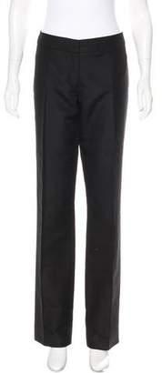 Alberta Ferretti Mid-Rise Straight-Leg Pants