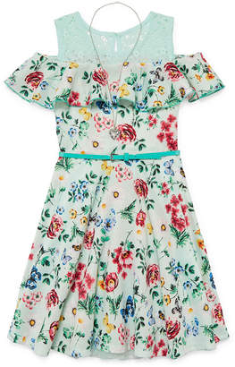 Knitworks Knit Works Sleeveless Skater Dress Girls