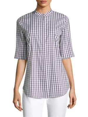 Lafayette 148 New York Theodora Gingham Shirt
