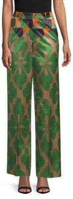 Dries Van Noten Printed Wide-Leg Pants